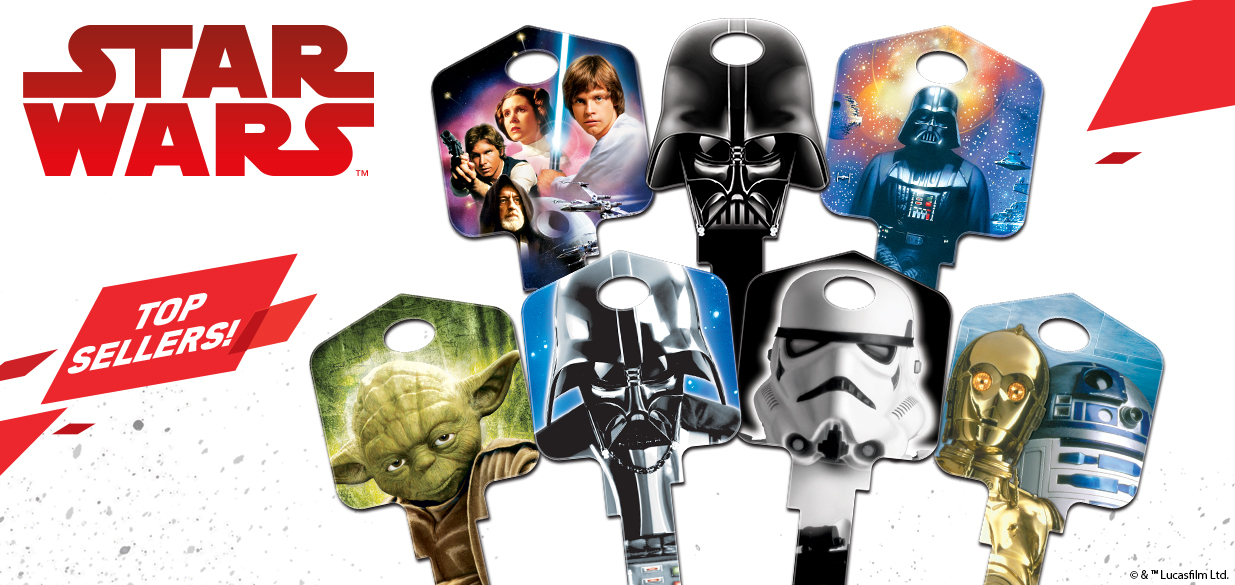 Shop our top selling licensed Star Wars house keys!