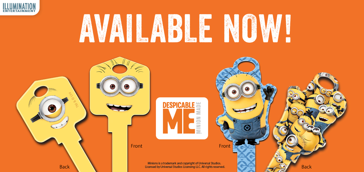 New shaped Minions keys are now available!