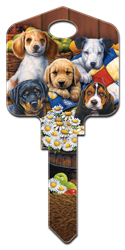 AC2 - Puppies Artisan Collection, puppies, house key blanks, licensed