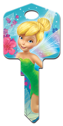 D47 - Fairies Disney, Tinker Bell, Fairies, licensed, painted, house keys, key blanks