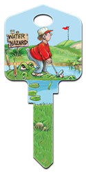 GP6 - Golfing Great Outdoors, Gary Patterson, Golfing, house key blanks, licensed