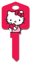 SR3 - Hello Kitty Red Hello Kitty, house key, licensed, painted, key blanks, red