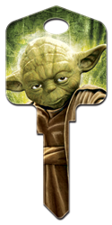 SW2 - Yoda Star Wars, Yoda, house key, licensed, key blank