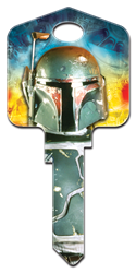 SW3 - Boba Fett Star Wars, Boba Fett, house key blank, licensed, painted
