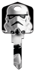 SW4 - Stormtrooper Star Wars, Stormtrooper, house key blank, licensed, painted