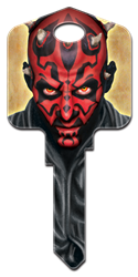 SW5 - Darth Maul Star Wars, Darth Maul, house key blank, licensed, painted
