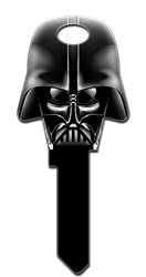 SW7 Darth Vader Dark Side Star Wars, Darth Vader, Dark Side, Shaped, Licensed, Painted House Key Blank