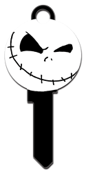 D118 - Jack Skellington Shape Disney, the nightmare before christmas, jack skellington licensed painted house key blank