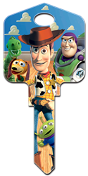 D63 - Buzz & Woody Disney, Disney Pixar, A Toy Story, Buzz & Woody, licensed, painted, house key blank