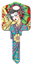 AI2 - Geisha Achilles Ink, Geisha, painted, licensed, house key blanks