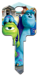 D100 - Mike & Sulley Disney, Monsters University, Mike and Sulley, licensed, painted, house key blank