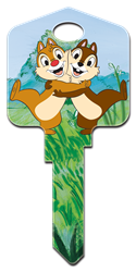 D86 - Chip N Dale Disney, Chip N Dale, house key blank, licensed