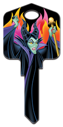 D97 - Maleficent Disney, Sleeping Beauty, Maleficent, house key blank, licensed,