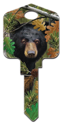 DPW1 - Black Bear Deep Woods, Black Bear, house key, forest, licensed