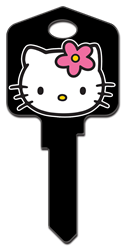 SR2 - Hello Kitty Black Hello Kitty, house key, licensed, painted, key blanks, black