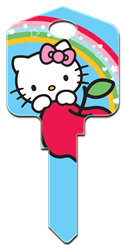 SR4 - Hello Kitty Blue Hello Kitty, house key, licensed, painted, key blanks, blue