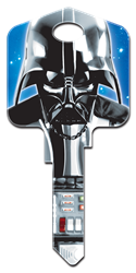 SW1 - Darth Vader Star Wars, Darth Vader, house key, licensed, painted, key blank